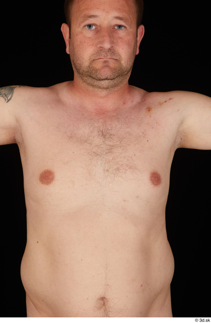 Chest Man White Nude Chubby Studio photo references
