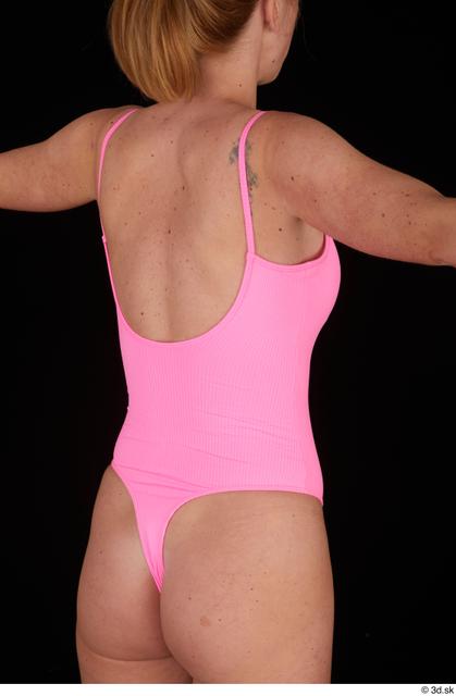 Upper Body Woman White Casual Slim Studio photo references