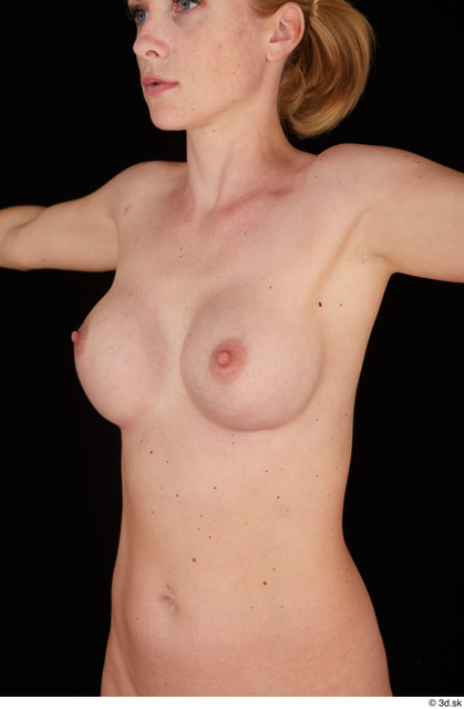 Chest Breast Woman White Nude Slim Studio photo references