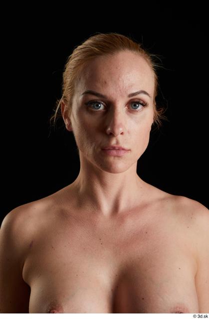 Head Woman White Slim Studio photo references