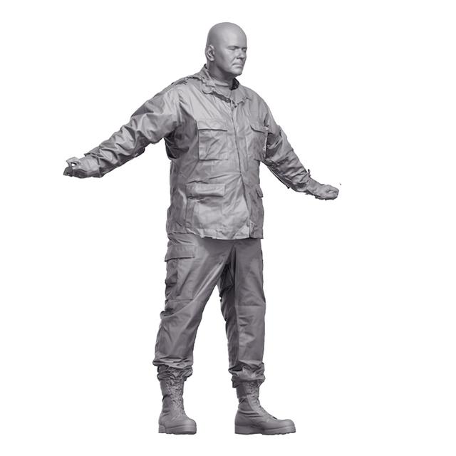 Army Uniform 3D Scan of Body