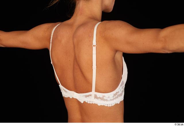 Chest Back Breast Woman White Underwear Bra Underweight Studio photo references