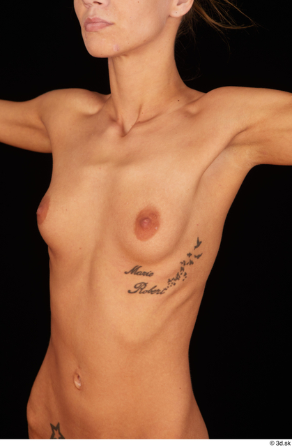 Chest Breast Woman White Nude Underweight Studio photo references