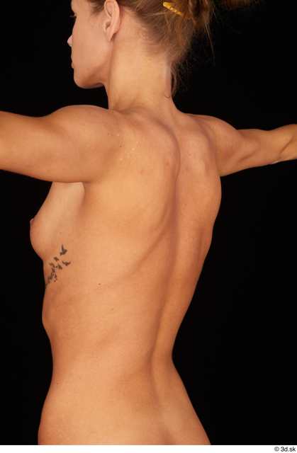 Chest Back Woman White Nude Underweight Studio photo references