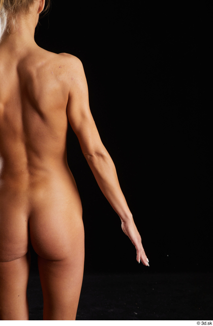 Arm Back Woman White Nude Underweight Studio photo references