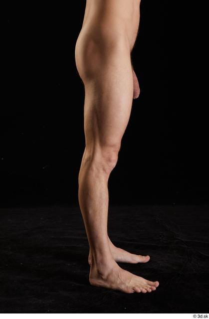 Leg Man White Nude Slim Studio photo references
