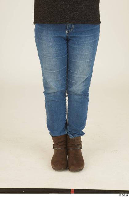 Leg Woman White Casual Chubby Street photo references