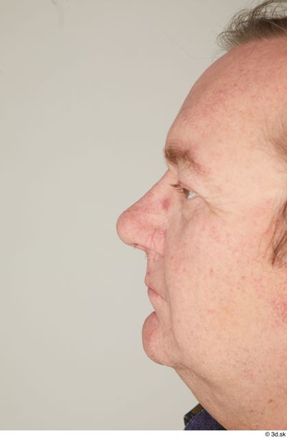 Nose Man White Casual Chubby Street photo references