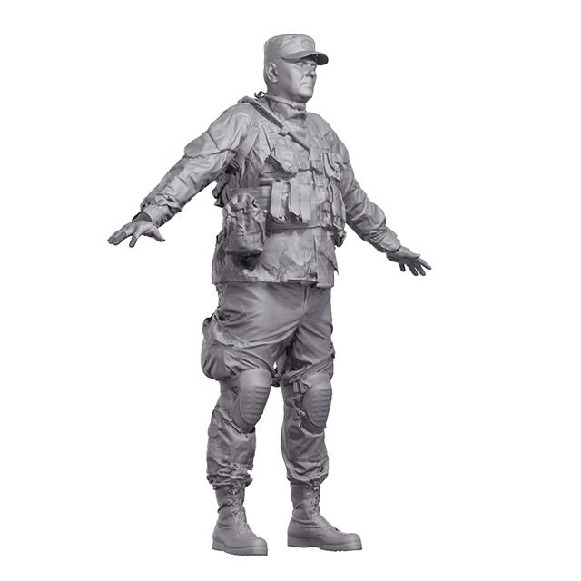 Man T poses White Army 3D Artec Bodies