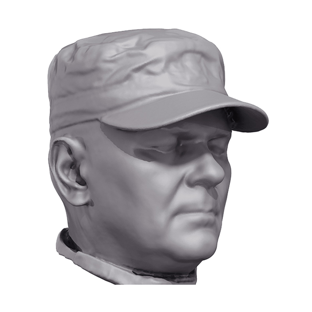 US Army Tactical Cap 3D Scan of Head