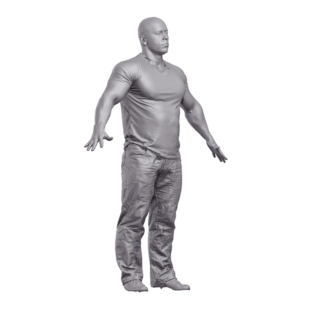 Marek Bodybuilder 3D Scan of Body