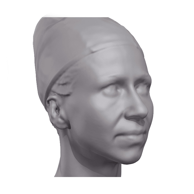 Petra Bodybuilder 3D Scan of Head
