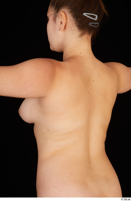 Chest Back Woman White Nude Average Studio photo references