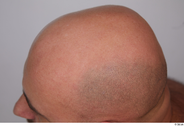 Man White Average Bald Studio photo references