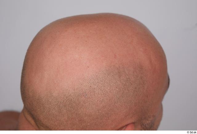 Man White Average Bald Studio photo references