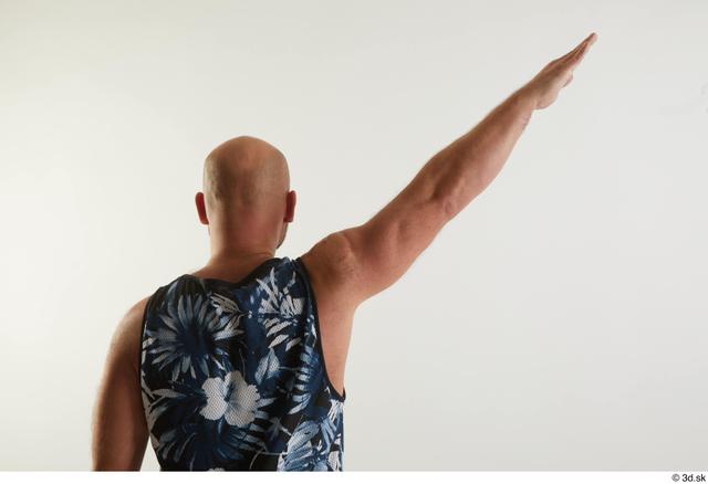 Arm Back Man White Sports Average Top Studio photo references