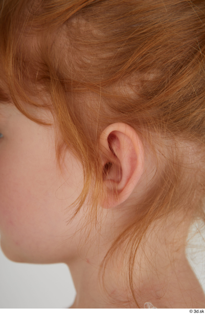 Ear Woman White Casual Slim Kid Street photo references