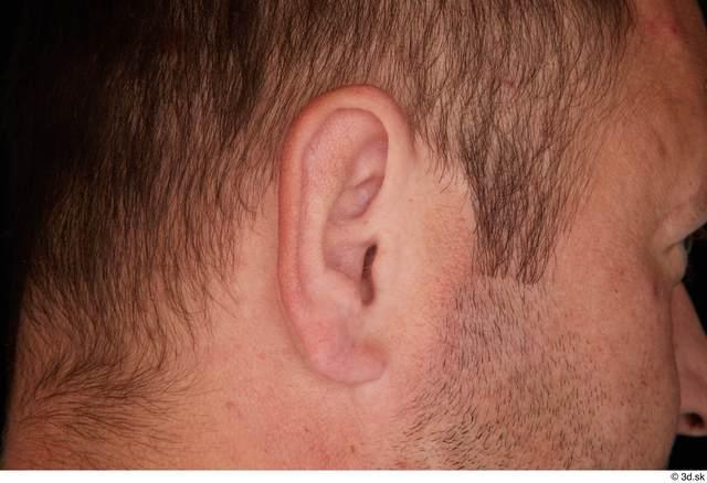 Ear Man White Studio photo references