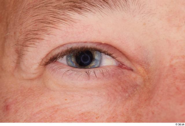 Eye Man White Studio photo references