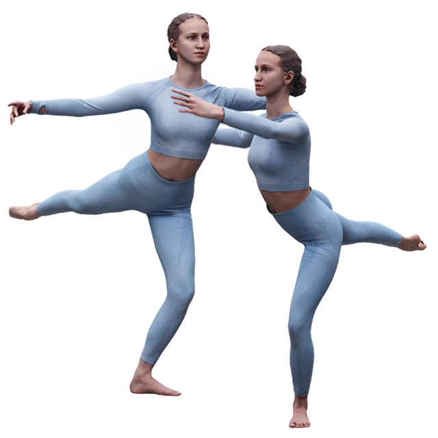 Whole Body Woman White Sports Athletic 3D Scans