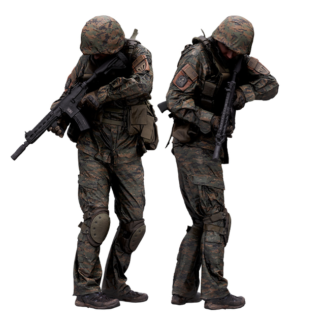 Whole Body Weapons-Rifle Man White Army Average 3D Scans