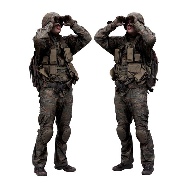 Whole Body Man White Army Average 3D Scans