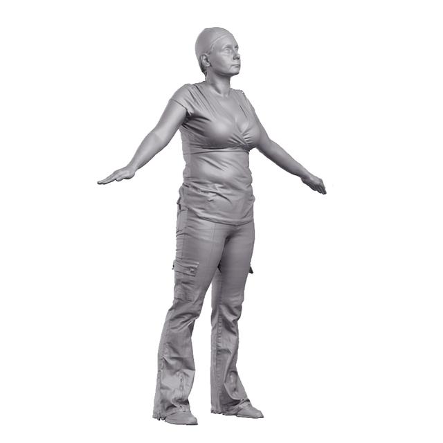 Malvina 3D Scan of Body