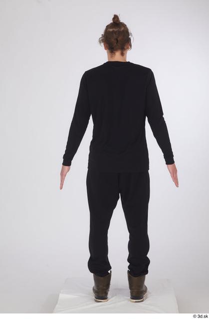 Whole Body Man White Sports Shoes Shirt Slim Standing Studio photo references