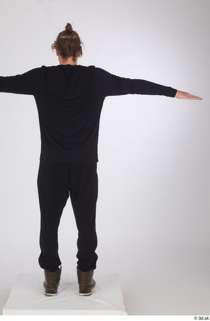 Whole Body Man T poses White Sports Shoes Shirt Slim Standing Studio photo references