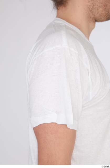 Arm Upper Body Man White Casual Shirt Slim Studio photo references