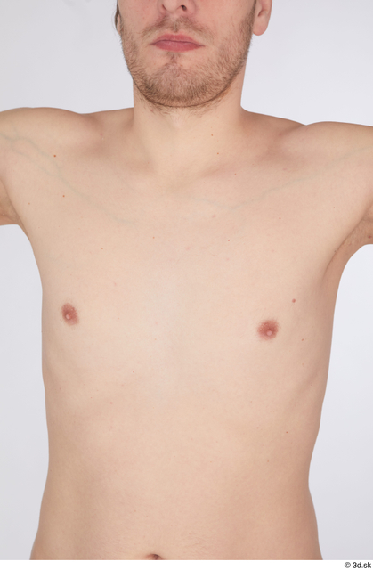 Chest Man White Nude Slim Studio photo references