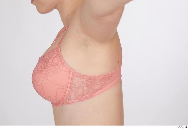 Chest Breast Woman White Underwear Bra Studio photo references