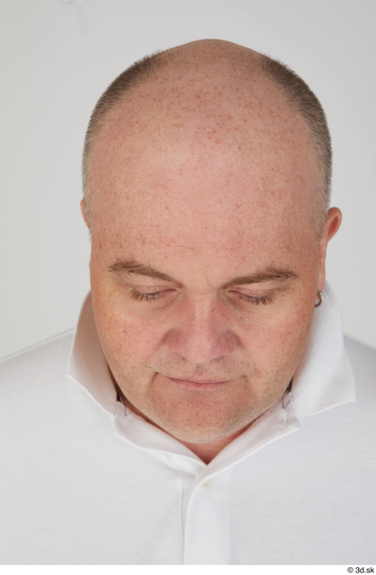 Head Man White Sports Overweight Bald Street photo references