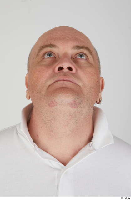 Head Man White Sports Overweight Street photo references
