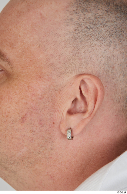 Ear Man White Sports Overweight Street photo references