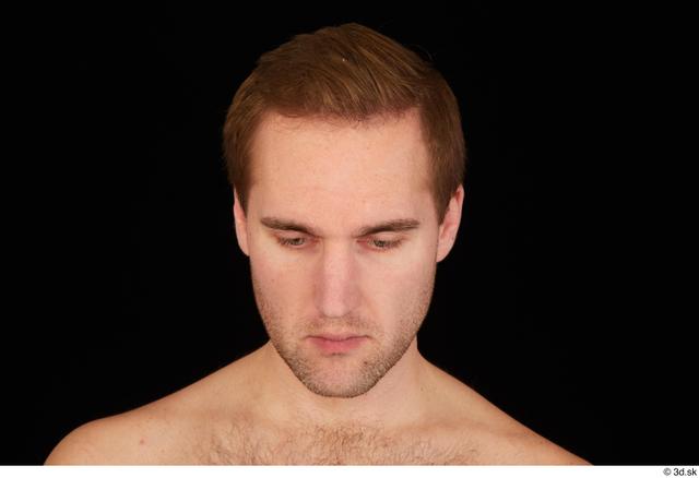 Hair Man White Studio photo references