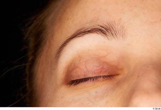 Eye Woman White Studio photo references