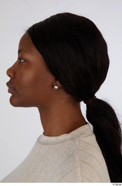 Head Hair Woman Black Casual Slim Street photo references