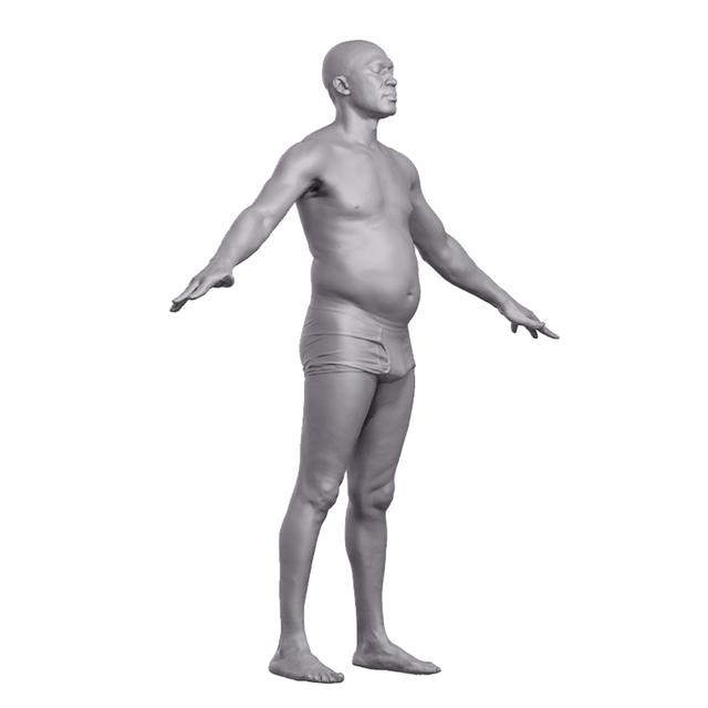 Base Scan of Nio´s Body Nude