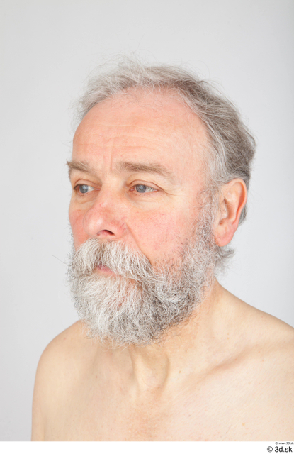 Man White Bearded Groom Photo References