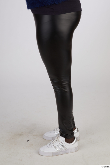 Leg Woman Black Casual Chubby Street photo references