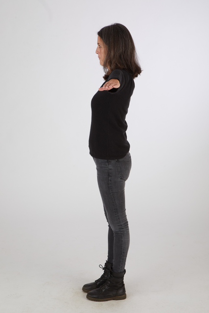 Whole Body Woman T poses Casual Slim Standing Street photo references