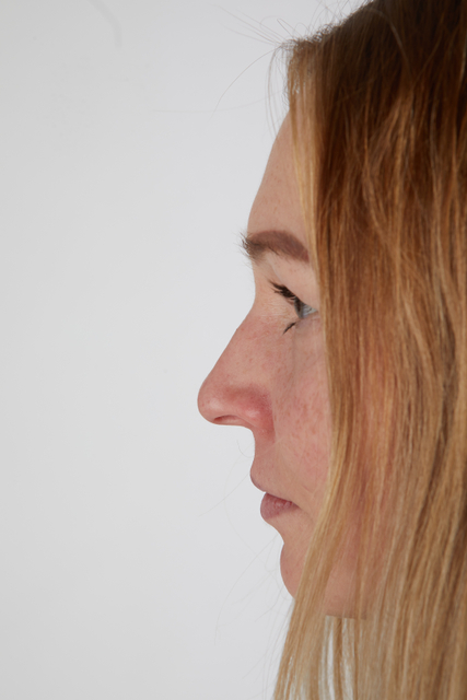 Nose Woman White Casual Slim Street photo references