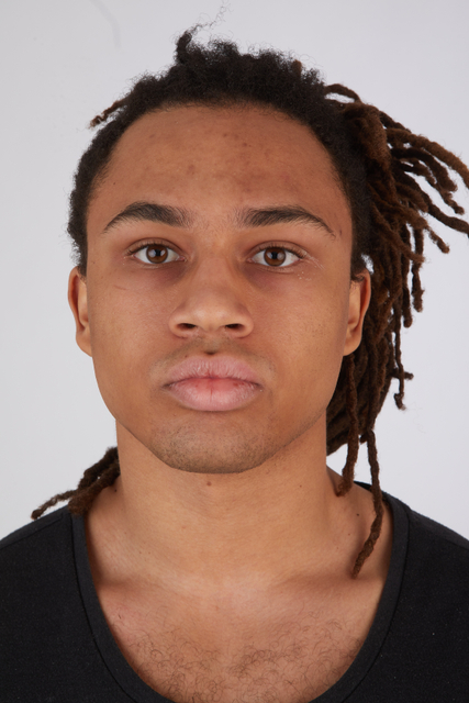Face Head Hair Man Black Casual Slim Street photo references