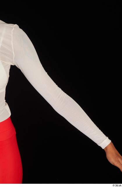 Arm Upper Body Woman White Casual Shirt Slim Studio photo references
