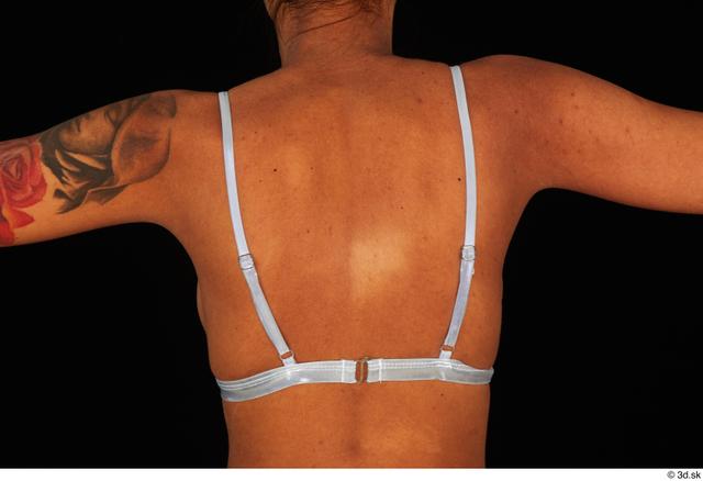 Back Breast Woman White Underwear Swimsuit Bra Slim Studio photo references