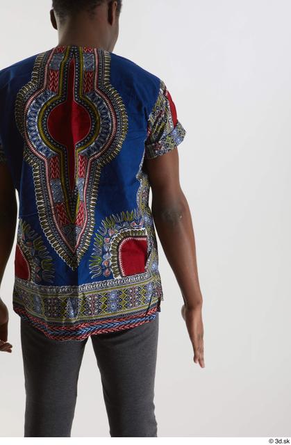 Arm Man Black Shirt Slim Studio photo references