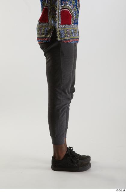 Leg Man Black Pants Slim Studio photo references