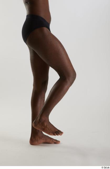 Leg Man Black Nude Slim Studio photo references