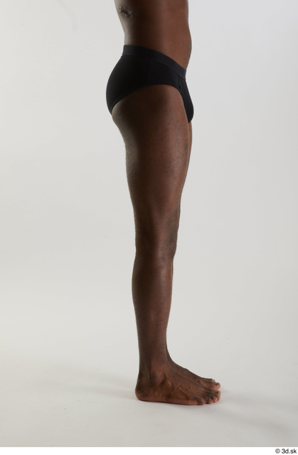 Leg Man Black Nude Slim Studio photo references